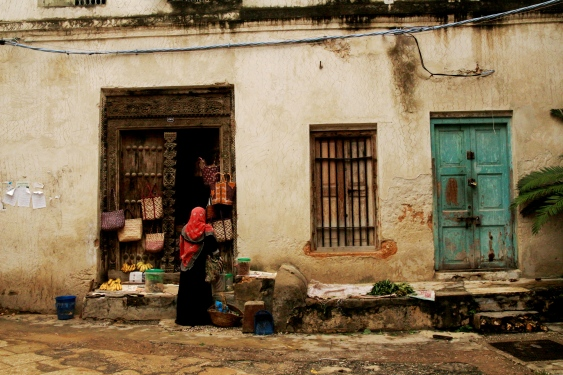 Stone Town ... a typical street scene.