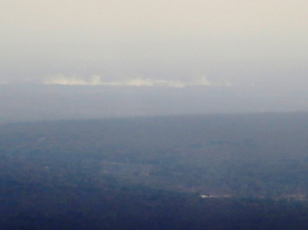 From the air ...In the distance we could see the mist of Victoria Falls