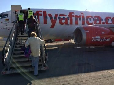 And there stood Fly Africa, waiting for us to board ..