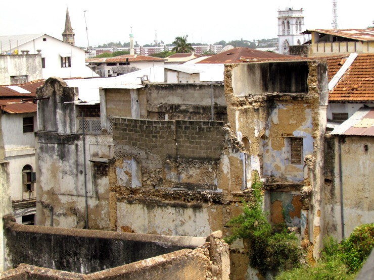 Old decaying and dying buildings