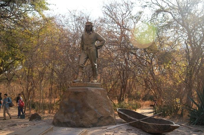 The famous Livingston statue